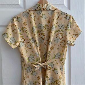 Vintage Floral Button Up Maxi Dress
